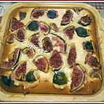 recette Clafoutis aux figues,crème fraiche.