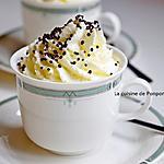 recette Riz au lait et à la confiture de lait cacao et noisettes comme un cappuccino...