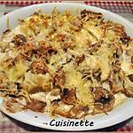 recette Chou-fleurs et champignons gratinés.