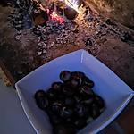 recette Marrons grillés au feu de bois