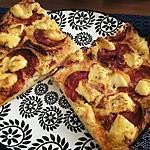 recette Pizza au chorizo et Saint-Marcelin