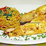 recette Coucou de Malines mariné à la provençale, cuit à basse température et risotto
