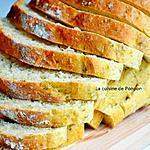recette Pain au pesto à l'ail des ours, à l'huile d'olive et linette