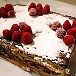 recette FRAMBOISIER AU CHOCOLAT - RECETTE DE MONICA