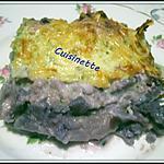 recette Gratin de chou-fleurs violet,sauce blanche persillade.