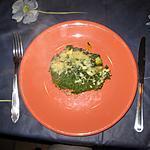 recette Parmentier d'agneau aux patates douces et aux épinards
