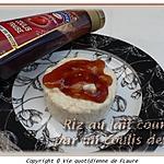 recette Riz au lait couronné par un coulis de fraises