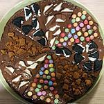 recette Gateau chocolat garni de bonbons