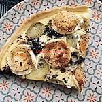 recette Quiche du Centre au boudin noir à la solognote et Sainte-Maure de Touraine