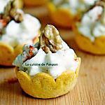 recette Amuse bouche à la crème de chou fleur et moutarde aux noix