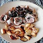 recette galette blé noir  andouille,  pommes  champignons