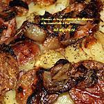 recette Pommes de terre et saucisse de Morteau à la cancoillotte à l'ail.