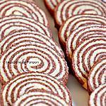 recette Sablé spirale vanille et confiture de lait cacao et noisette Raffolé