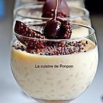 recette Riz au lait à la purée de marron garni d'une guinette à l'armagnac