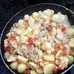 recette Saumon pommes de terre, tomates cerise, champignons