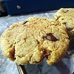 recette Cookies au beurre de cacahuète & pépites de chocolat
