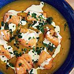 recette Velouté Courge Butternut au Saumon