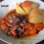 recette Ragout de bœuf aux tomates au cookéo