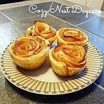 recette Mes roses feuilletées aux pommes et aux feuilles de brick