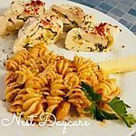 recette Escalope de dinde roulée aux trois fromages