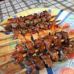 recette Grillades sans barbecue ( brochettes de bœuf )