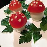 recette Les amanites ! idée originale pour décorer vos salades d'été