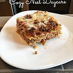 recette Lasagnes à la viande hachée et crème fraîche