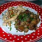 recette poelée de marrons/ campignon de paris/ lardons