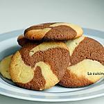 recette Biscuit chocolat vanille comme un tourbillon, sans oeuf