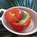 recette tomates oeufs-pesto
