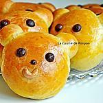 recette Brioche nounours aux épices de pain d'épices, sans beurre