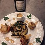 recette Poêlée de cèpes et st Jacques du blog cccuisine.over-blog.com