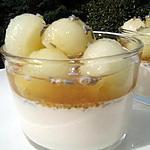 Panacotta à la lavande , miel et melon