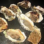 recette Huître gratinée au cidre et champignons