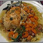 recette Coquelet aux carottes,cookéo.cuisinette.