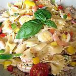 recette Salade de farfalles( papillons) aux crevettes