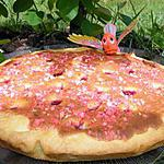 recette Ooo Tarte noix de coco, framboises et pralines roses ooO