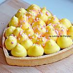 recette Coeur à la gelée de pomme, sureau, groseille et flan parsemé de crumble de meringue fraise
