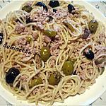 recette Spaghettis au veau,et olives.