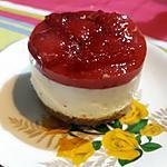 recette Cheesecake individuel à la fraise