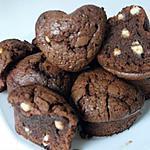 recette coeurs fondants au chocolat noir et ses pépites de chocolat blanc