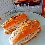 recette Burger de patate douce au saumon, crème citronnée