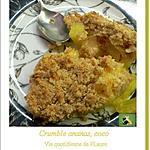 recette Crumble ananas frais, coco