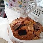 recette Muffins pépites 3 chocolats coeur nutella