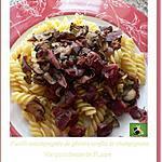 recette Fusilli accompagnés de gésiers confits et champignons