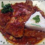recette Filet mignon de porc sauce tomate,curcuma.cookéo.