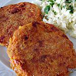 recette Galettes aux carottes, mozzarella, épices et flocons d'orge