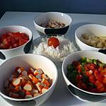 recette Salade de riz à composer