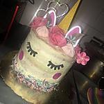 recette Gâteau Licorne arc en ciel