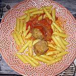 recette Boulettes de viande moëlleuses à la sauce tomate